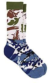 Gosha Rubchinskiy X adidas Men's Camouflage Cotton-Blend Mid-Calf Socks - Blue