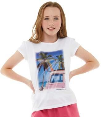 Board Angels Girls Camper Van Photo Print T-Shirt White