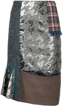 Kolor patchwork skirt