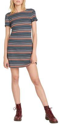 Volcom So Far Out Stripe T-Shirt Minidress