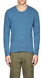 Officine Generale MEN'S MERINO WOOL-CASHMERE SWEATER-BLUE SIZE XL