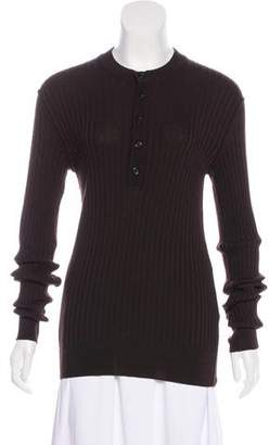 Dolce & Gabbana Long Sleeve Rib Knit Top