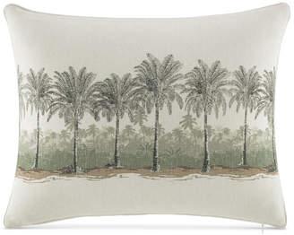 "Tommy Bahama Home Canvas Stripe 16"" x 20"" Palms Decorative Pillow Bedding"