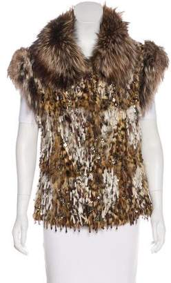 Giuliana Teso Embellished Lipi Cat & Fox Vest