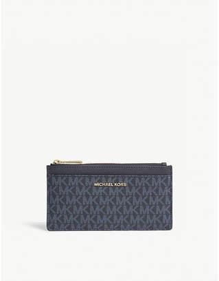 MICHAEL Michael Kors Money Pieces logo leather card case
