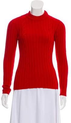 Miu Miu Crew Neck Long Sleeve Sweater