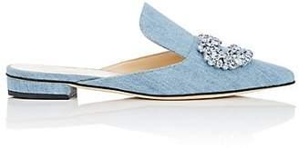 GIANNICO Women's Daphne Denim Mules - Blue