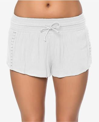 O'Neill Juniors' Elise Crochet-Trim Shorts