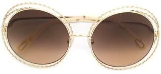 Chloé (クロエ) - Chloé Eyewear oversized wired frame sunglasses