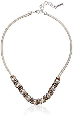 "Nine West and Crystal 16"" Frontal Necklace"