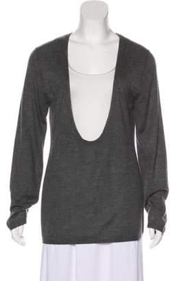 Proenza Schouler Cashmere Knit Sweater Grey Cashmere Knit Sweater