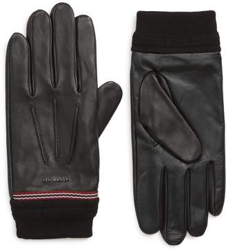 Ted Baker Cuffed Leather Touchscreen Gloves