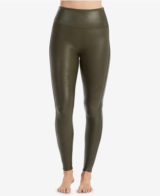 Spanx Women Faux-Leather Tummy Control Leggings