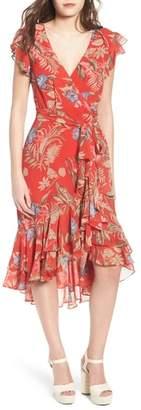 WAYF Clara Ruffle Wrap Dress