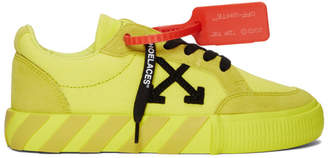 Off-White SSENSE Exclusive Yellow Low Vulcanized Sneakers