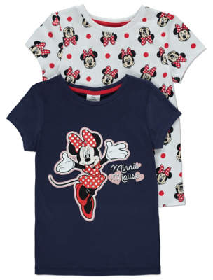 Disney George Minnie Mouse Tops 2 Pack