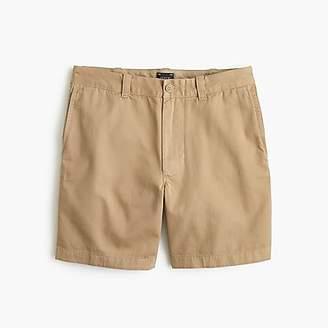 "J.Crew 7"" Short In Garment-Dyed Tan Cotton"