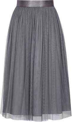 Reiss Crystal - Tulle Skirt in Chalk