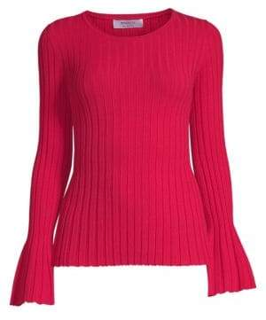 Bailey 44 Cossak Bell-Sleeve Ribbed Sweater