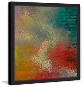 Parvez Taj Red Kayak Framed Print
