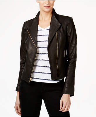 Cole Haan Leather Moto Jacket $400 thestylecure.com