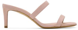 Mansur Gavriel Pink Suede Fino Sandals