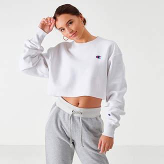 Champion Women's Reverse Weave Crop Crew Sweatshirt