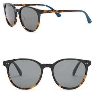 Toms Bellini 52mm Black Tortoise Fade Sunglasses