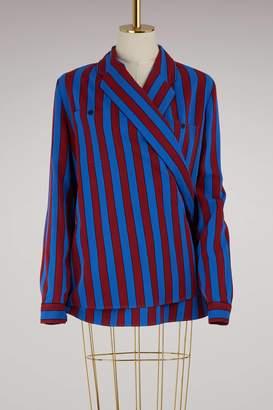 Maison Margiela Striped wrap shirt