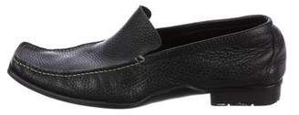 Kenzo Leather Square-Toe Loafers
