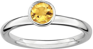 JCPenney FINE JEWELRY Personally Stackable Genuine Citrine Sterling Silver Stackable Ring