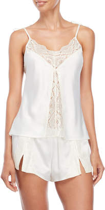Rya Collection Two-Piece Lace Trim Satin Camisole & Shorts Set