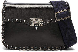 Valentino Guitar Rockstud Rolling Noir Shoulder Bag