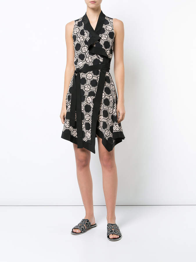 Derek Lam 10 Crosby Sleeveless Wrap Dress