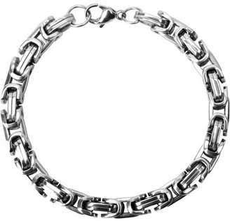 """STEEL ART Steel Art Men's Stainless Steel Byzantine Style Polish Finished Chain Bracelet, 9.5mm, 8-1/2"""" Long"""