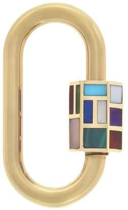Marla Aaron Phyllis Inlay Lock - Yellow Gold