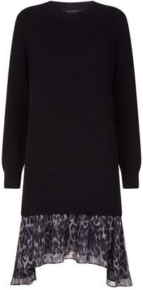 AllSaints Leopard Hem Sweater Dress