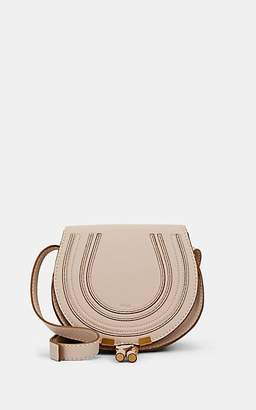 Chloé Women's Marcie Small Leather Crossbody Saddle Bag - White