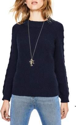 Boden Kendal Popcorn Stitch Cotton Wool Blend Sweater