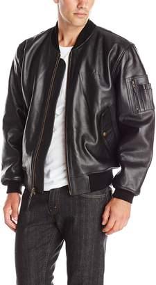 Alpha Industries Men's Leather MA-1 Bomber Jacket
