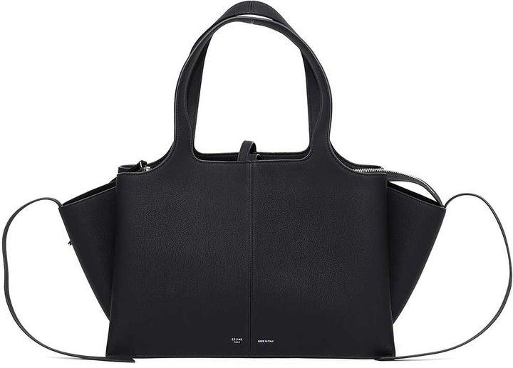 CelineCeline Leather 'tri-fold' Handbag