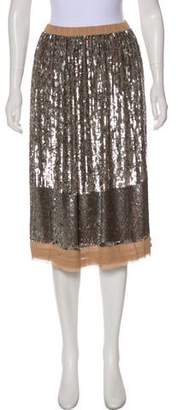 Loyd/Ford Sequined Silk Knee-Length Skirt w/ Tags