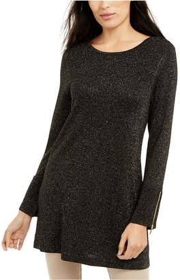 Alfani Glitter-Knit Tunic Sweater
