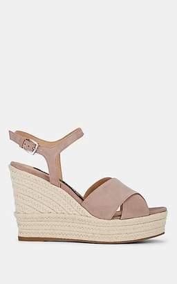 Sergio Rossi Women's Suede Platform Espadrille Sandals - Pink