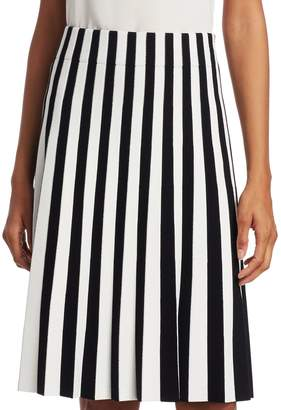 Akris Punto Stripe Pleated Skirt