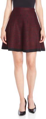 Vila Milano Houndstooth Knit Skirt