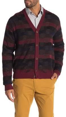 Robert Graham Bauta Plaid Knit Wool Blend Cardigan