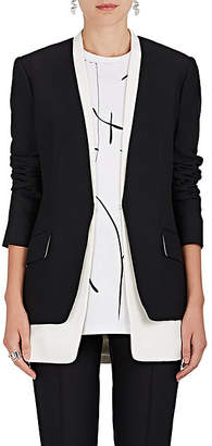 Derek Lam Women's Layered Collarless Blazer - Black