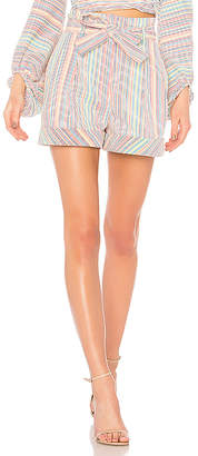 Nicholas Rainbow Stripe Belted Short
