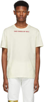 Raf Simons White The Caves Of VR.5 Slim Fit T-Shirt